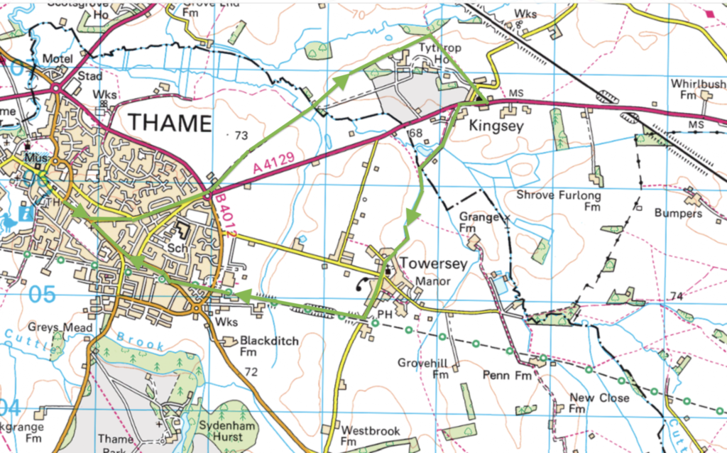 Thame walk to Kingsey and Towersey via the Phoenix Trail