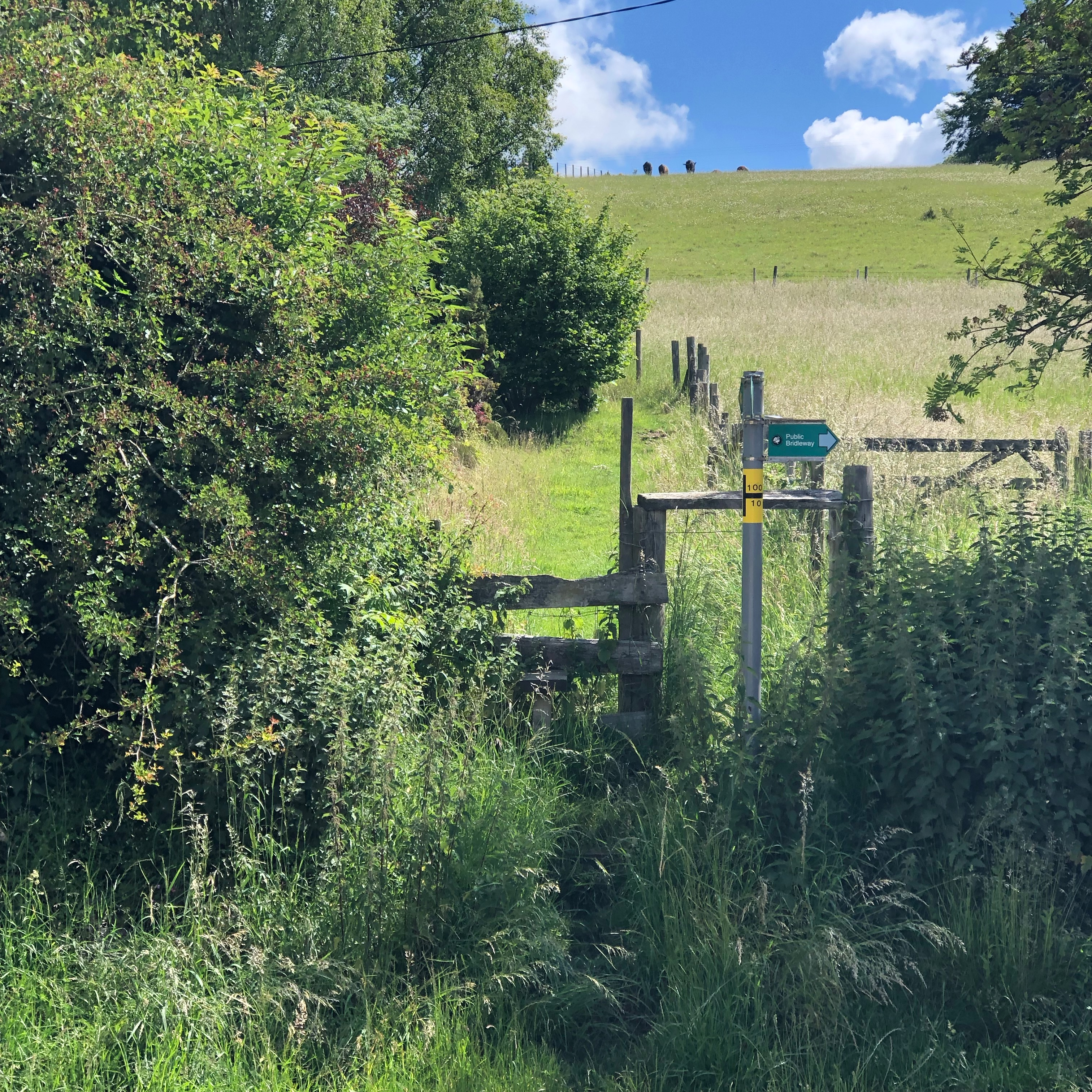 Stile Wendover Hill. Steep incline.