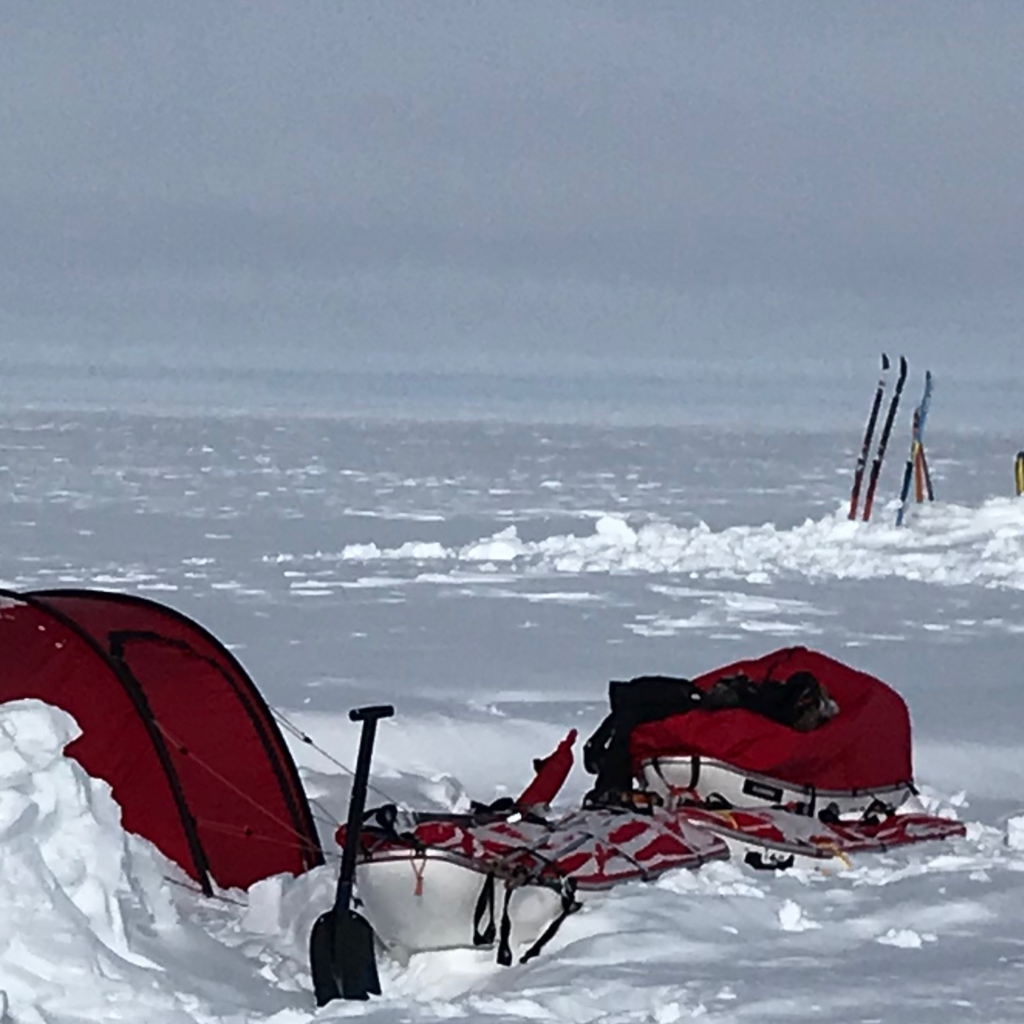 Tent buried in Greenland