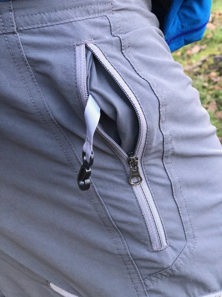security attachment in pockets of rab vertex pants.