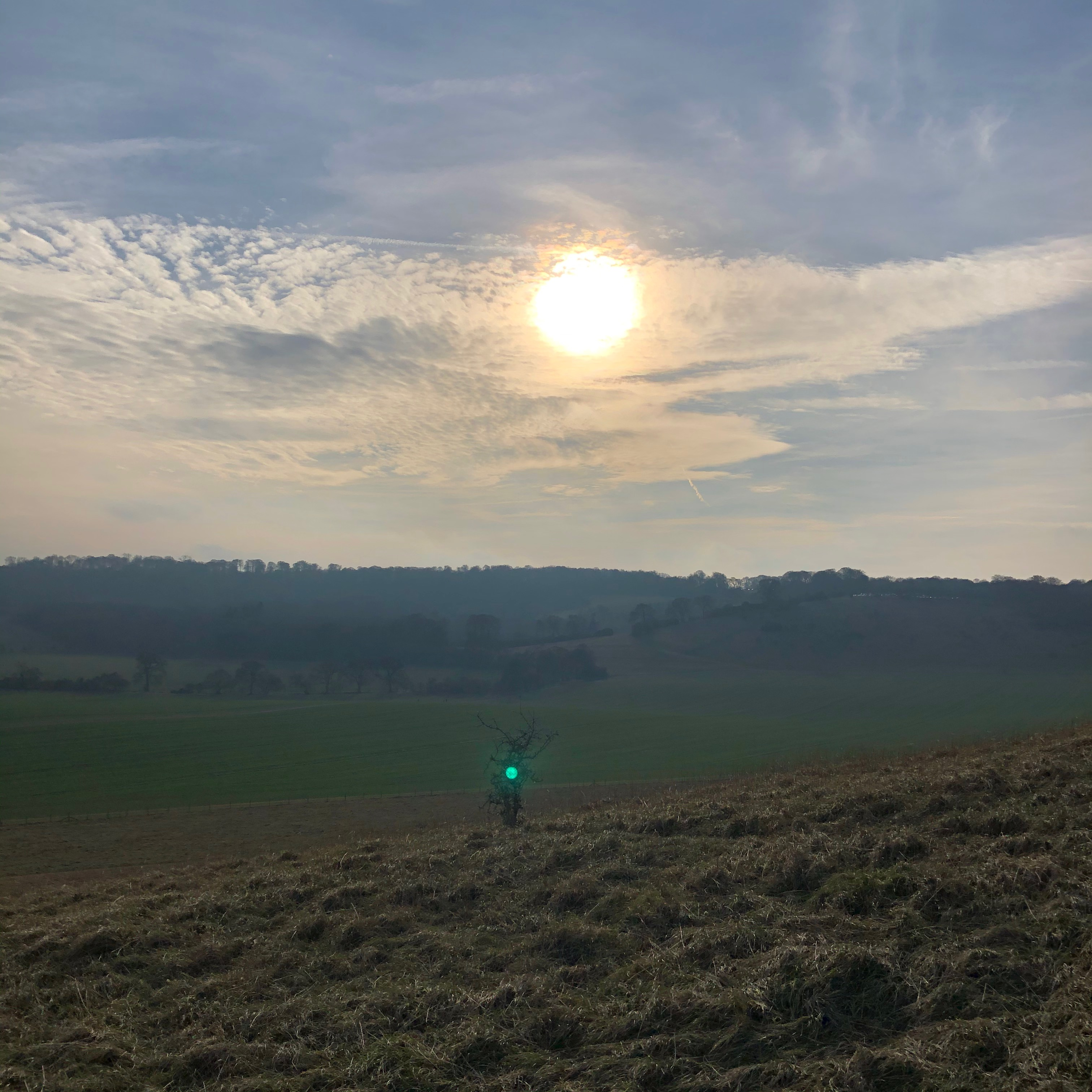 Sunset approaches Ivinghoe Beacon