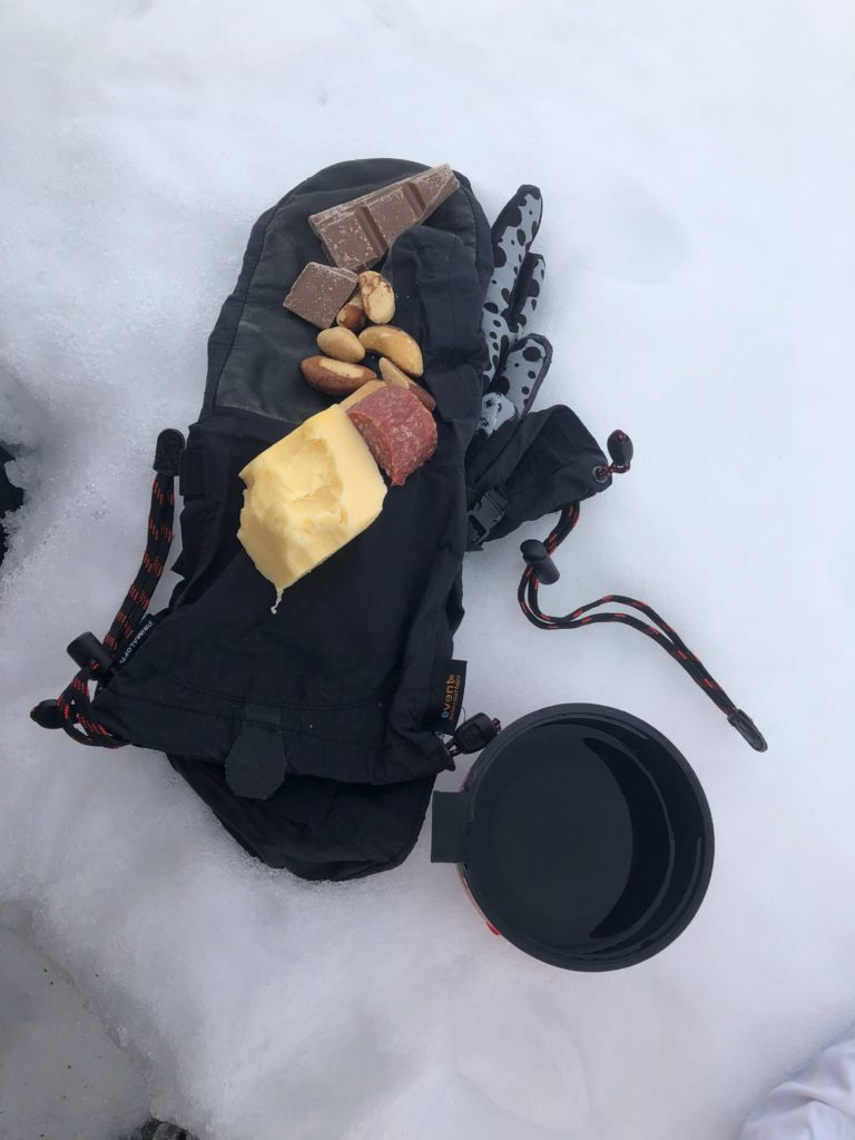 Trail rations aka daily snacks I ate during stops on my Lake Baikal crossing.