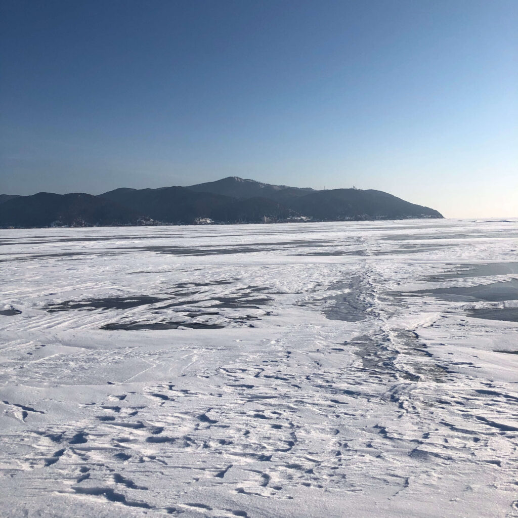 Lake Baikal in Russia, it's here you'll discover what makes a down jacket warm