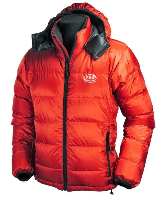 What makes a down jacket warm? In part, box wall construction as seen on this PHD Yukon down jacket.