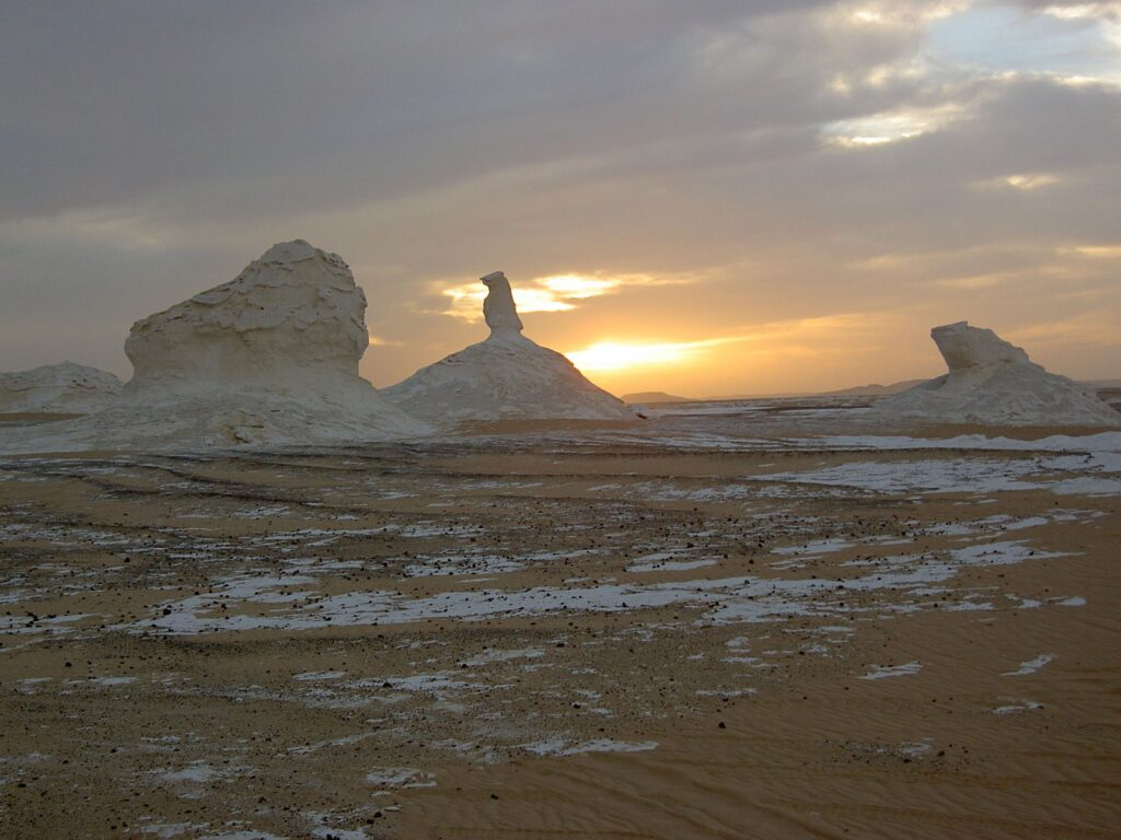 rock formations in the white desert